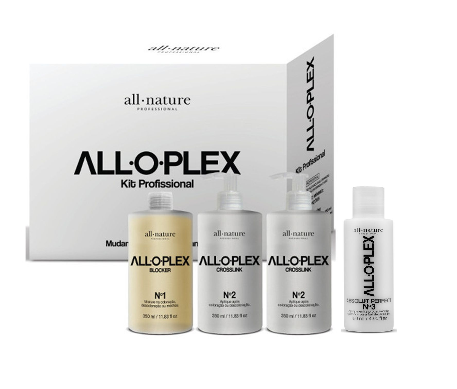 Alloplex Blocker  Bloqueador de Danos Nas Descolorações Mechas e Colorações e Absolut Perfect nº 3 All Nature