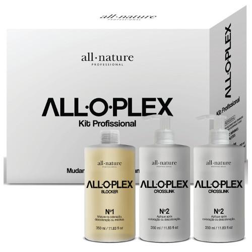 Alloplex Blocker  Bloqueador de Danos Nas Descolorações Mechas e Colorações + Shampoo e Condicionador Alloplex - All Nature