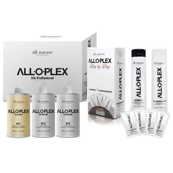 Alloplex Blocker  Bloqueador de Danos Nas Descolorações Mechas e Colorações + Kit Manutenção Day By Day