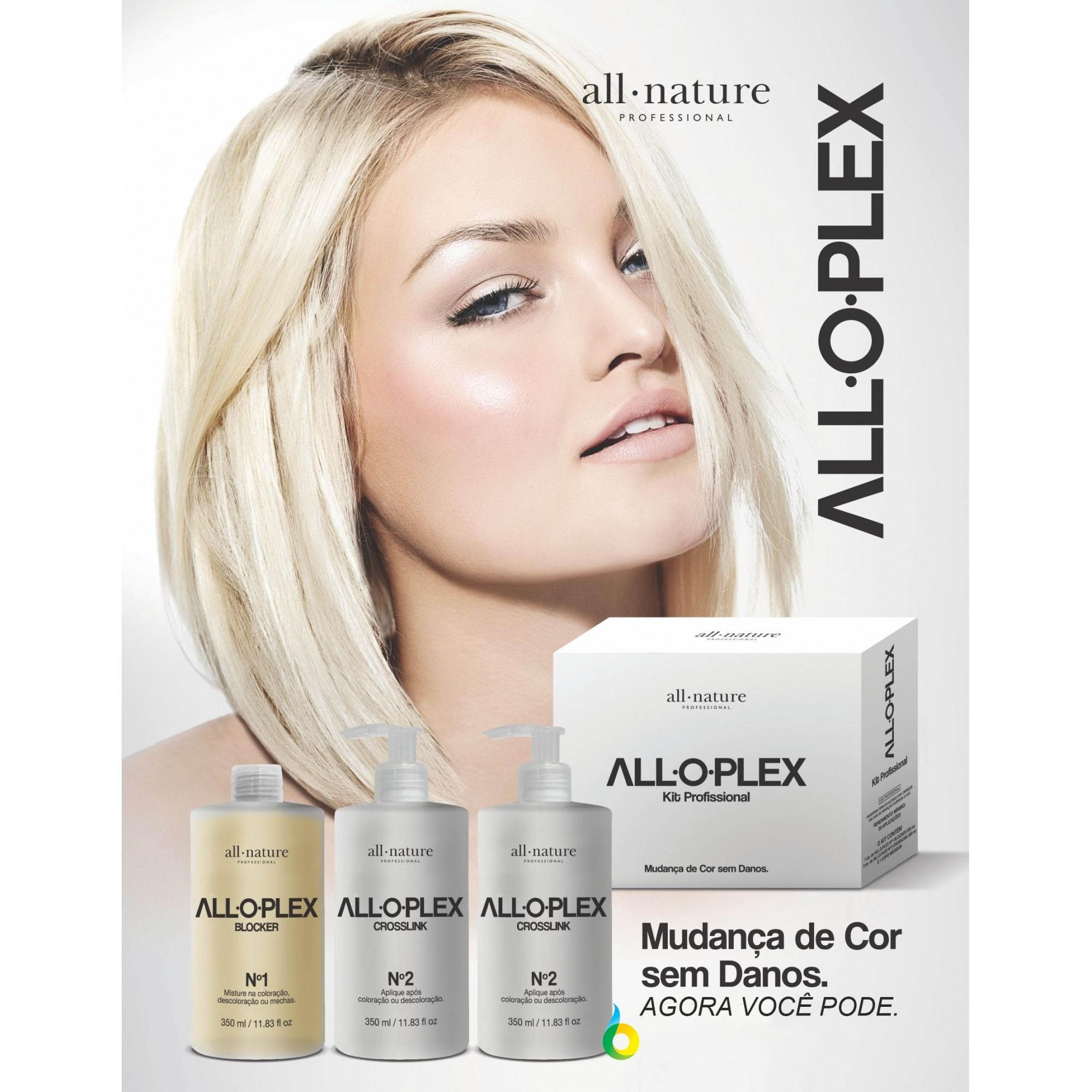 Alloplex Blocker Bloqueador de Danos Nas Descolorações Mechas, Luzes, Colorações e Demais Químicas - All Nature