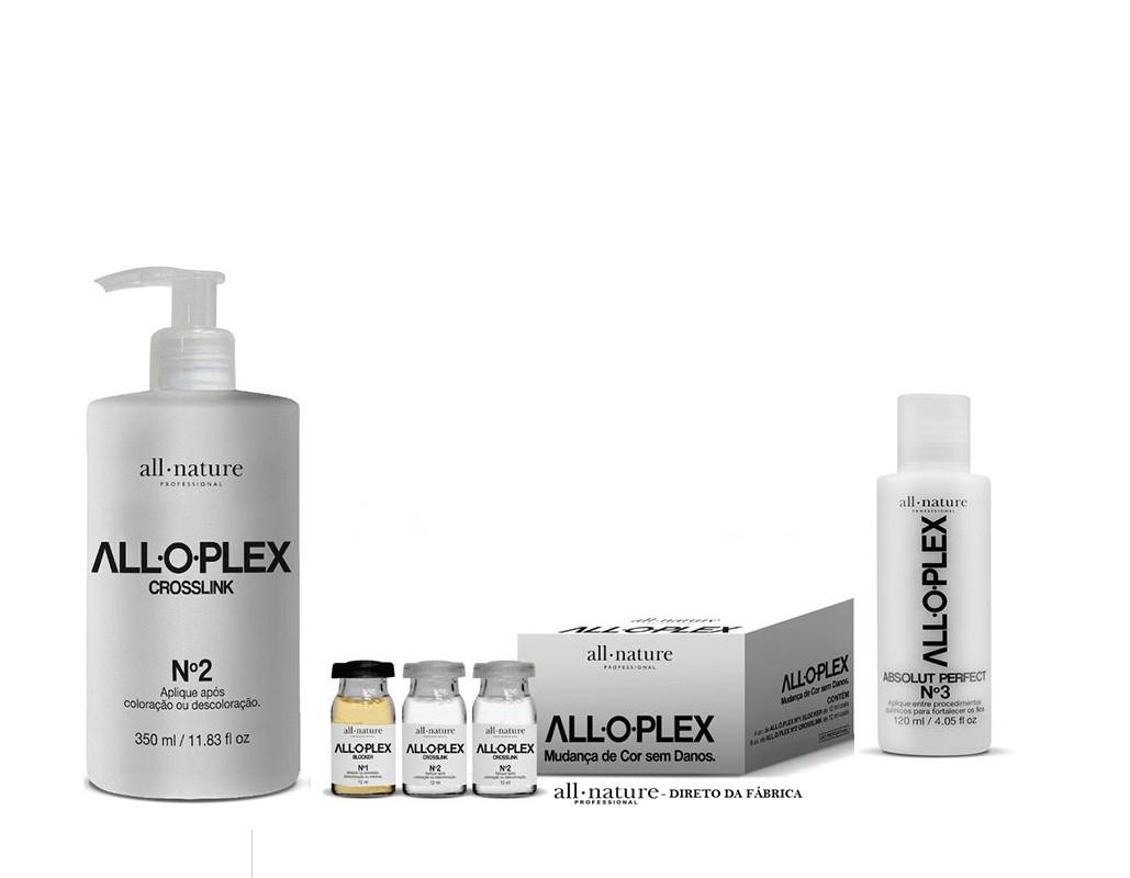Alloplex Bloqueador de Danos Nas Descolorações e Mechas, Alloplex Passo n° 3 e Alloplex Passo n°2  - All Nature