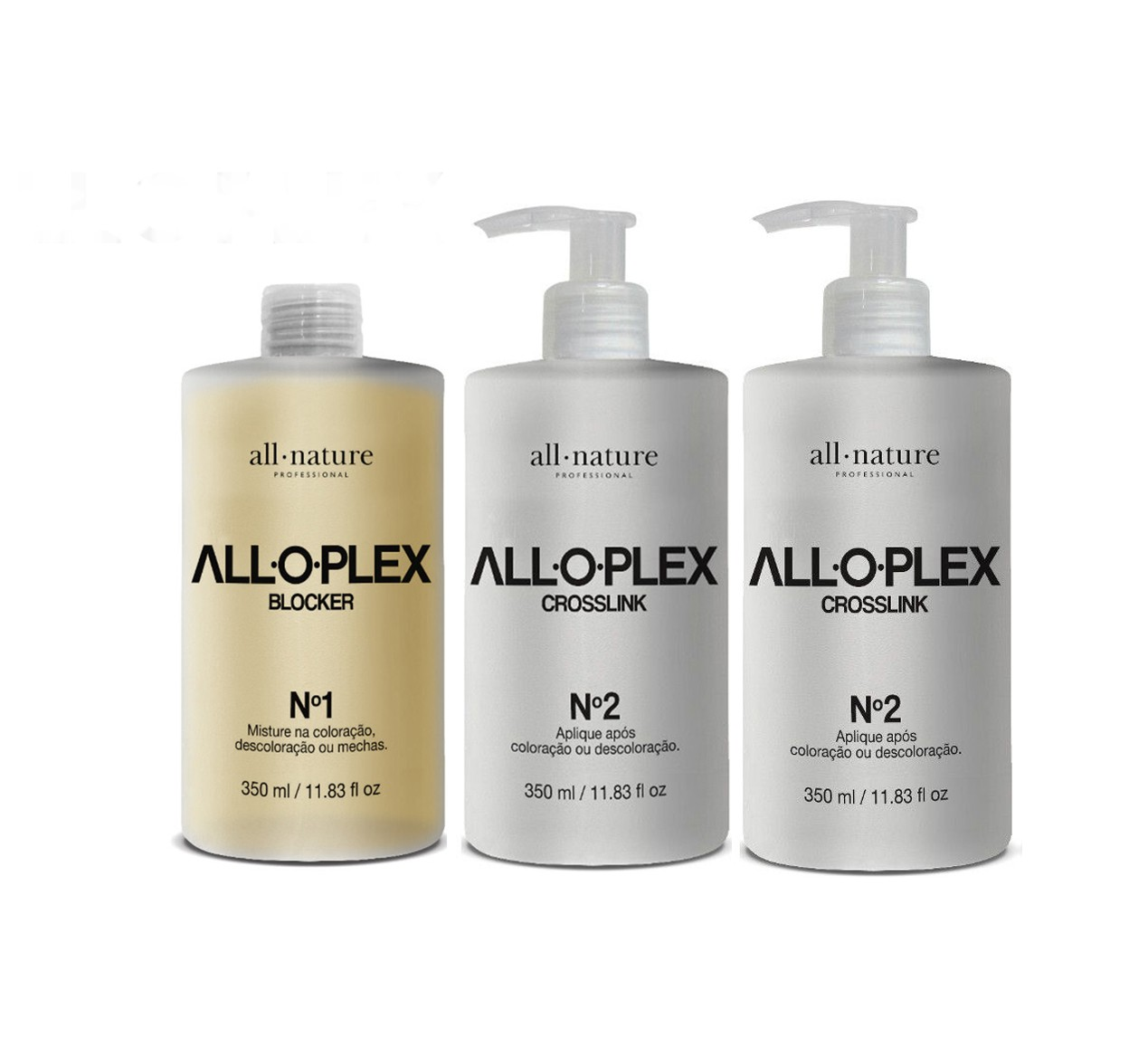 All Nature Kit Alloplex Bloqueador de Danos Nas Descolorações, Mechas e Químicas