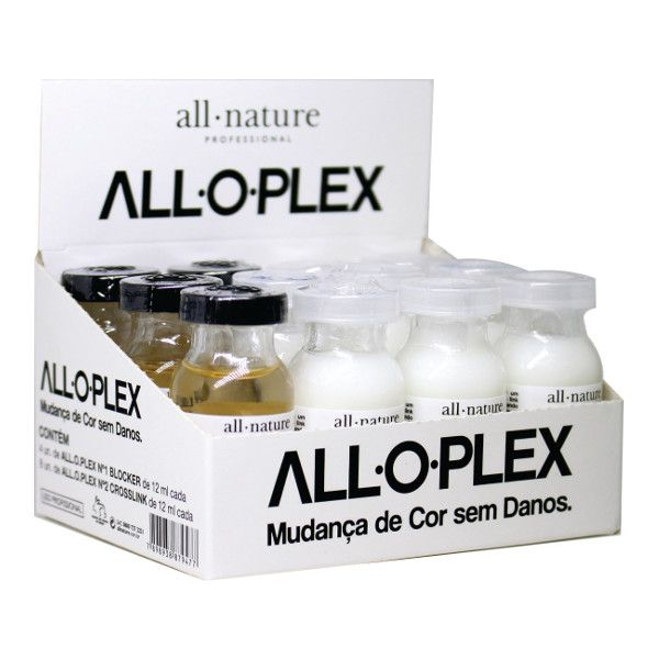 Aloplex Blocker All Nature  Bloqueador de Danos Nas Coloraçoes Descolorações e Mechas - Mini Kit