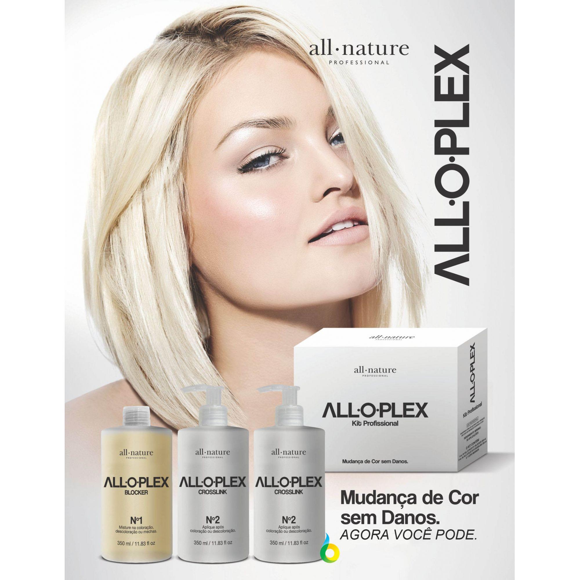 Aloplex Crosslink Passonº 2, Hidratação Pós Coloração, Descoloração e Manutenção Semanal - All Nature