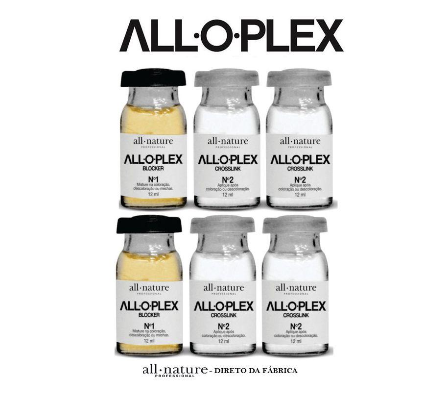 Ampolas Aloplex Blocker All Nature,  Bloqueador de Danos Nas Colorações, Descolorações e Mechas