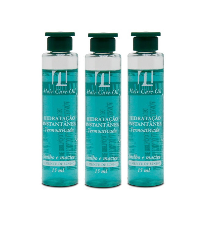 Ampolas Semi Di Lino All Nature Hair Care Oil , Hidratação Capilar, Alto Brilho Maciez e Sedosidade em 5 Minutos  3 ampolas 15ml
