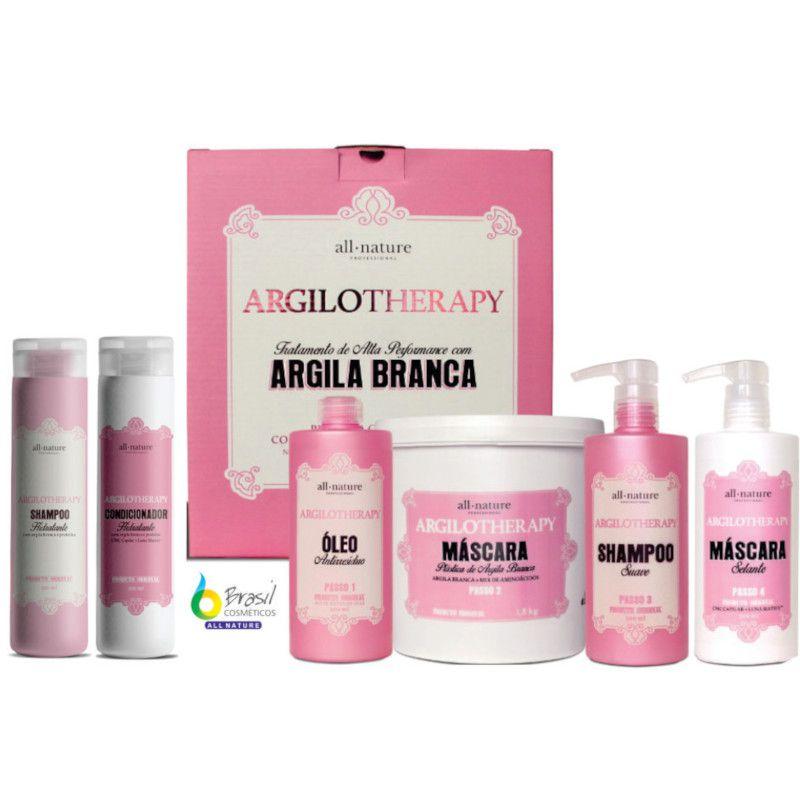 Kit Argilotherapy Reconstrução Capilar + Shampoo e Condicionador Para Manutenção - All Nature