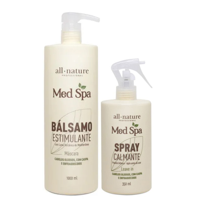 Bálsamo Estimulante Med Spa 1000ml E Spray Calmante Med Spa