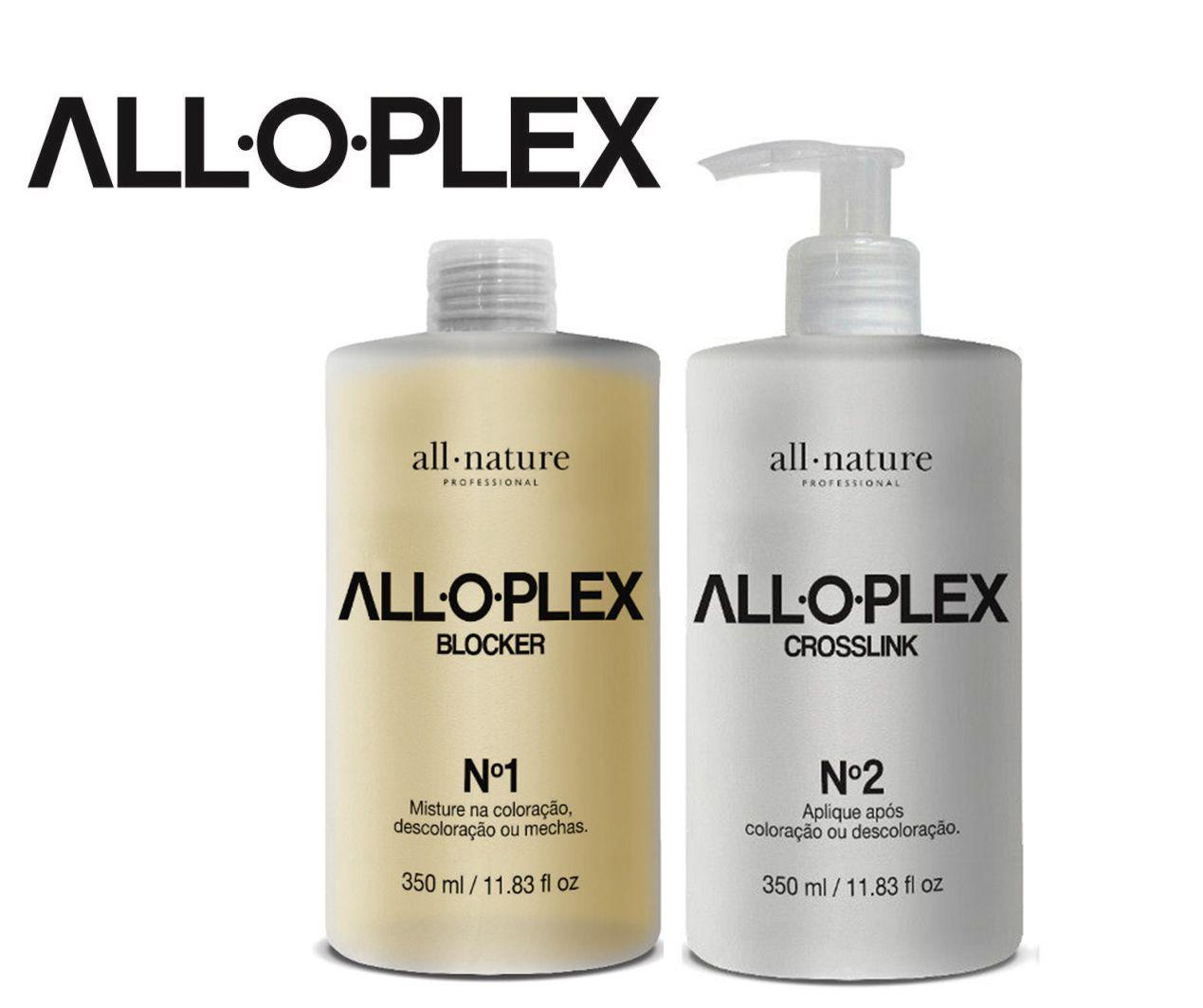 Bloqueador de Danos Nas Descolorações Mechas, Luzes, Colorações e Demais Químicas Aloplex Blocker nº 1 + Crosslink nº 2- All Nature