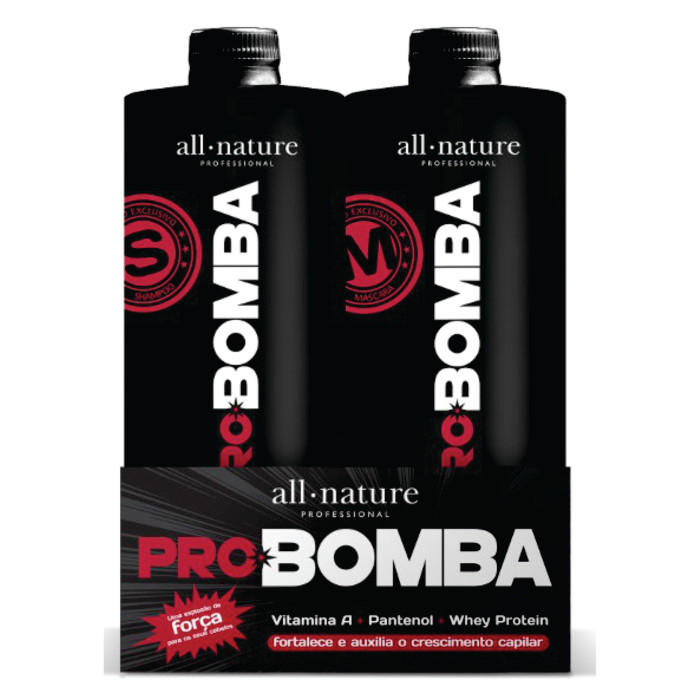 Kit Pro Bomba All Nature - Shampoo e Máscara 1000ml