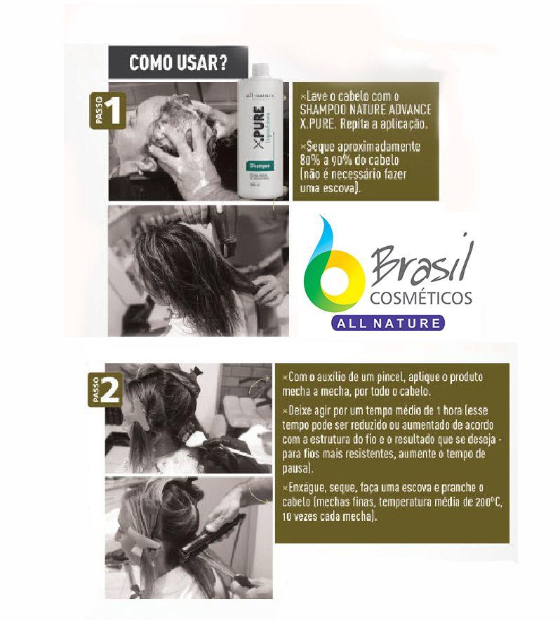 Botox Escova Progressiva Blond Control All Nature BTX Para Cabelos Loiros Descoloridos com Mechas e Luzes
