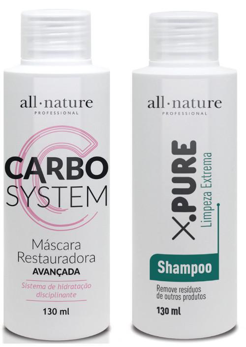Carbocisteina Carbo System All Nature  Para Processo de Escova Progressiva Lisos 100% ou Redução de Volume Tipo Relaxamento Cacheado Tipo Permanente