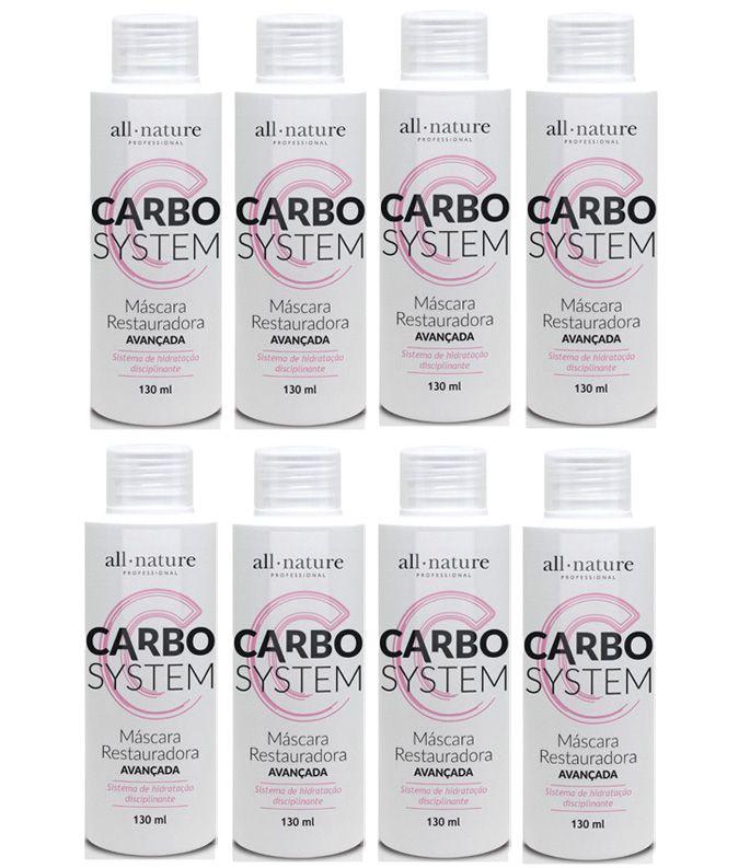 Carbocisteina Escova Progressiva Lisos 100% ou Redução de Volume (Tipo Relaxamento Cacheado) - All Nature - 8 Unidades de 130ml - Total 1040ml