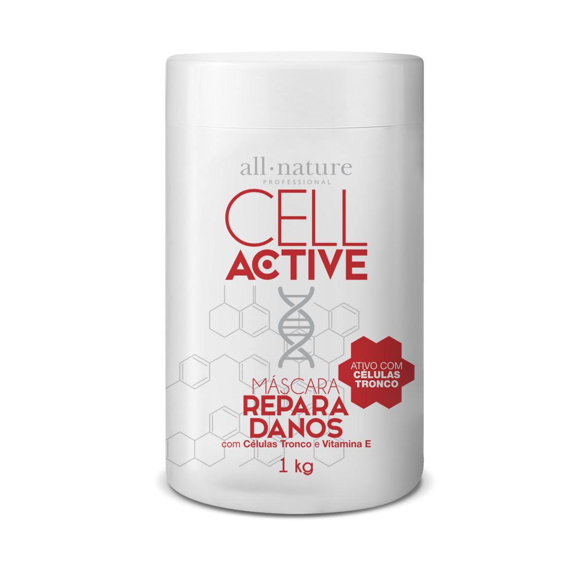 Cell Active  Reparação Capilar Com Células Tronco 4 Tratamentos em 1 Kit