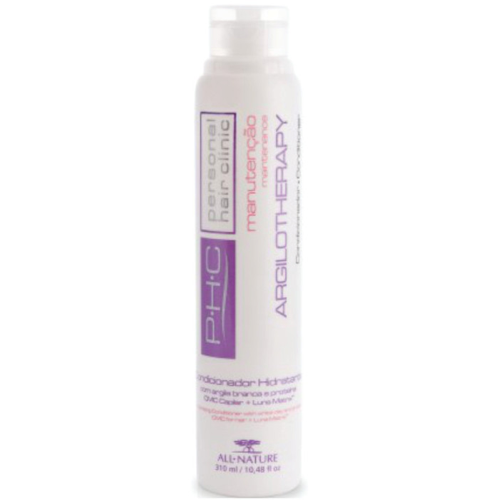 Condicionador Hidratante Argilotherapy 310ml All Nature  Com Argila Branca Proteínas CMC Capilar e Luna Matrix
