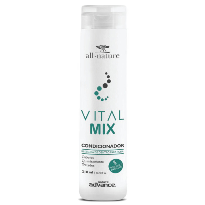 Condicionador Vital Mix All Nature  Indicado Para Cabelos Quimicamente Tratados