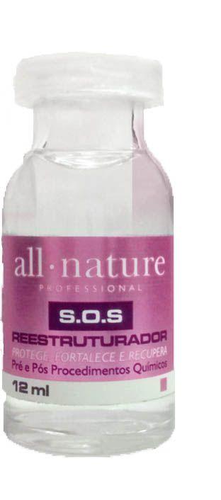 Creme Relaxante Capilar 250g Força A Escolher + Loção Onduladora Booster Afro Nature 250g + Ampola SOS Reestruturador 12ml - All Nature