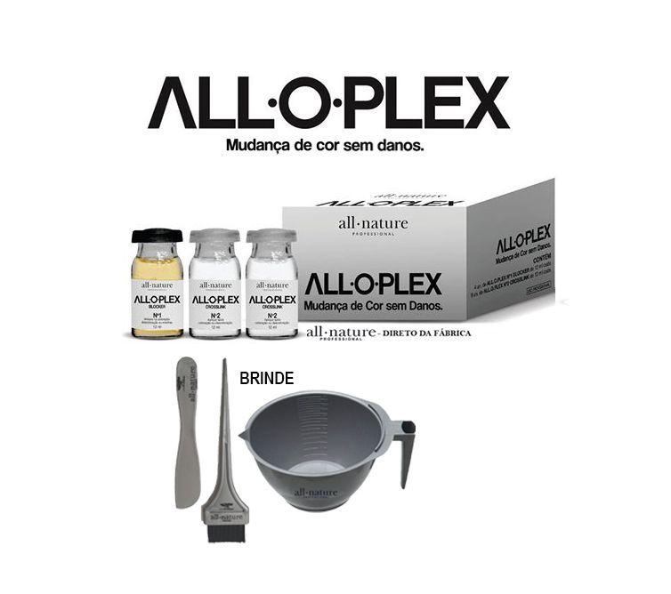 Descoloração e Coloração,  Aloplex Blocker Bloqueador de Danos Nas Colorações Descolorações e Mechas - All Nature - Caixa Com 12 Ampolas
