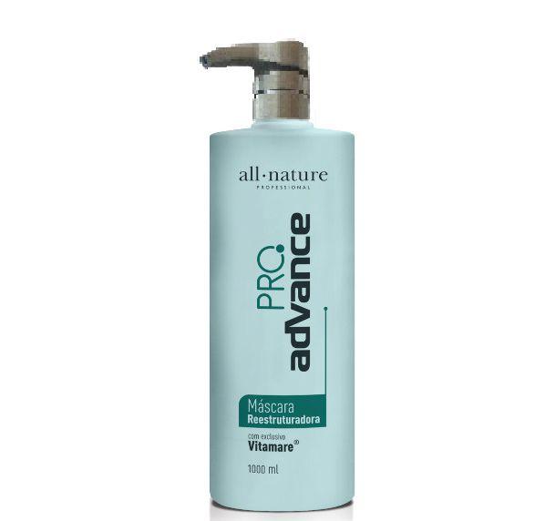 Escovas Progressivas All Nature Advance Pro Complex 1000ml, Carbocisteína 1000ml e Shampoo Limpeza Profunda 1000ml