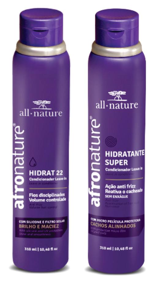 Hidratante Super Ativador de Cachos 310ml + Hidrat 22 Creme Sem Enxague 310ml All Nature