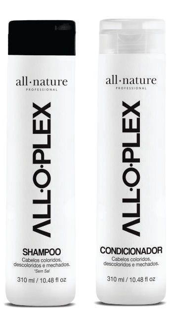 Kit Alloplex Blocker Bloqueador de Danos Nas Descolorações Mechas, Luzes, Colorações e Demais Químicas + Shampoo + Condicionador 310ml + Passo 3 de 120ml cada