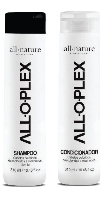 Kit Ampolas Alloplex Bloker Bloqueador de Danos nas Descoloração e Shampoo e Condicionador All Nature