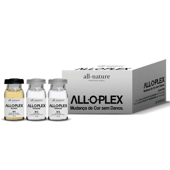 Kit Ampolas Alloplex Bloker Bloqueador de Danos nas Descolorações + Kit Manutenção Shampoo e Condicionador + Passo 3 Absolut Perfect- All Nature