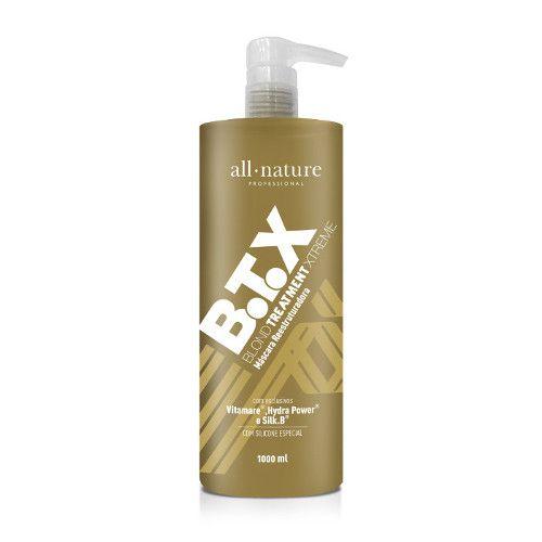 Kit Botox Blond Control All Nature Profissional BTX Escova Progressiva Para Cabelos Loiros Descoloridos com Mechas ou Luzes