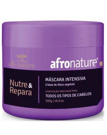 Kit de Manutenção; Hidrat 22 e Ativador Cachos 300ml + Máscara Intensiva 500g + Shampoo e Condicionador Jaborandi 300ml Afro Nature - All Nature