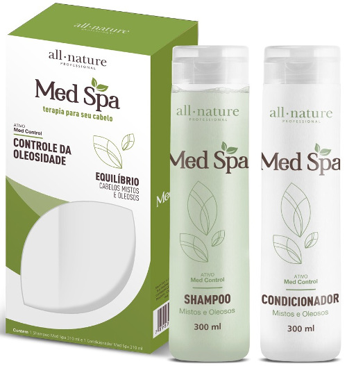 Kit Manutenção Med Spa All Nature  Shampoo e Condicionador 310ml  Indicado Para Cabelos Mistos e Oleosos