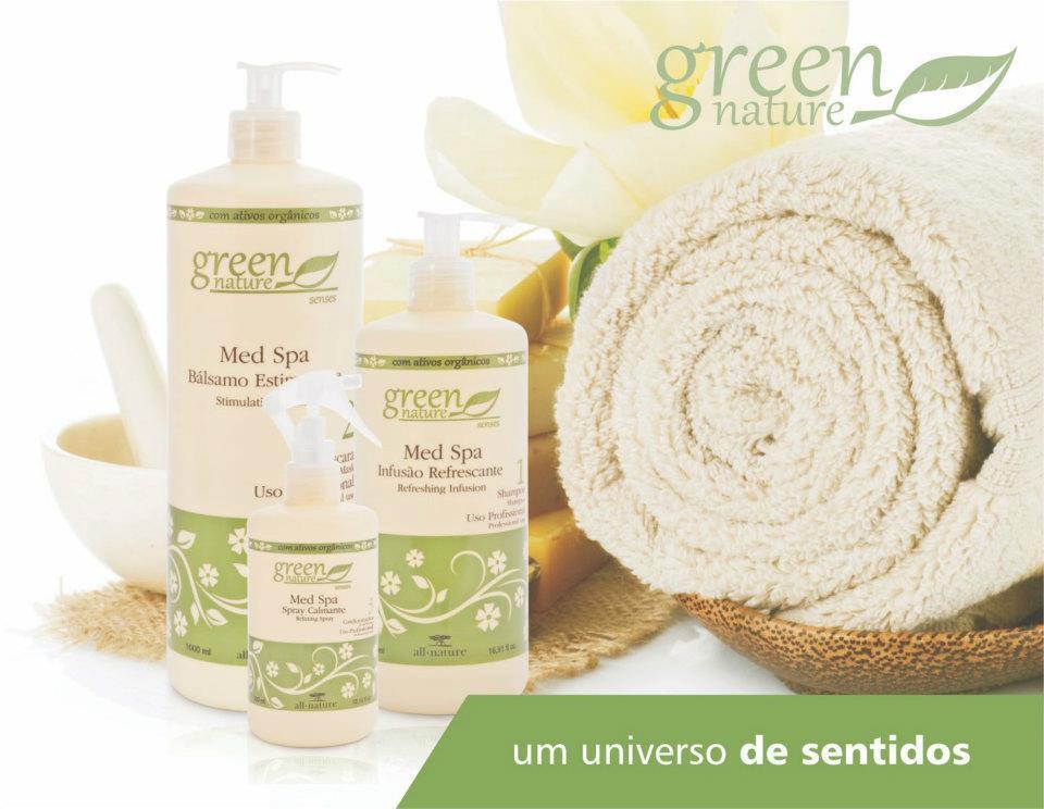 All Nature Kit Med Spa Terapia Capilar Com Lama Vulcânica e Aminoácidos,Tratamento dos Fios e Couro Cabeludo