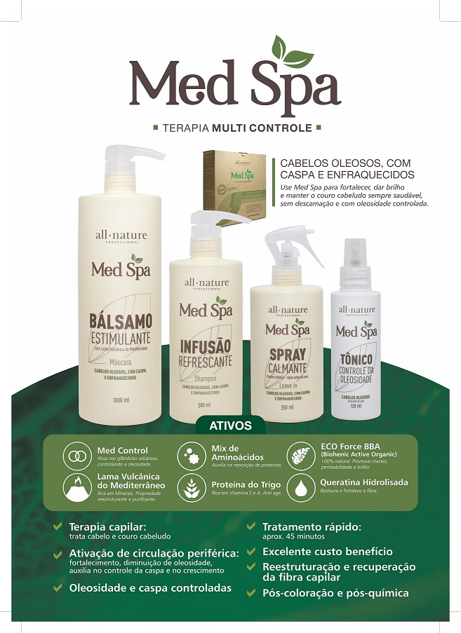 All Nature Kit Med Spa Lama (Argila) Vulcânica e Aminoácidos, Terapia Capilar
