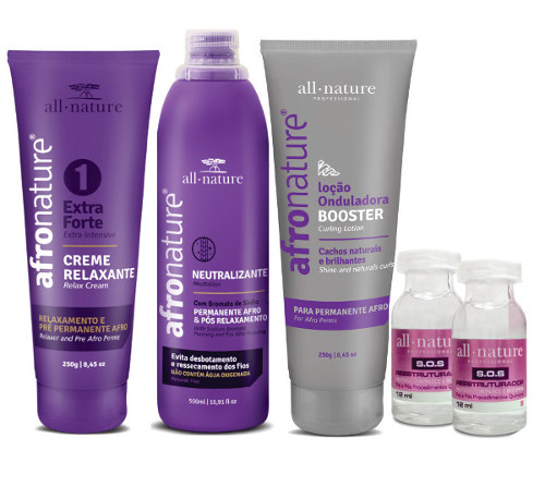 Kit Permanente Afro Profissional All Nature