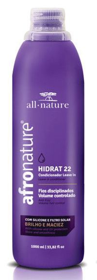 Hidrat 22 Leave In Cremede Pentear Sem Enxague 1000ml, Shampoo e Condicionador Jaborandi e Proteínas All Nature