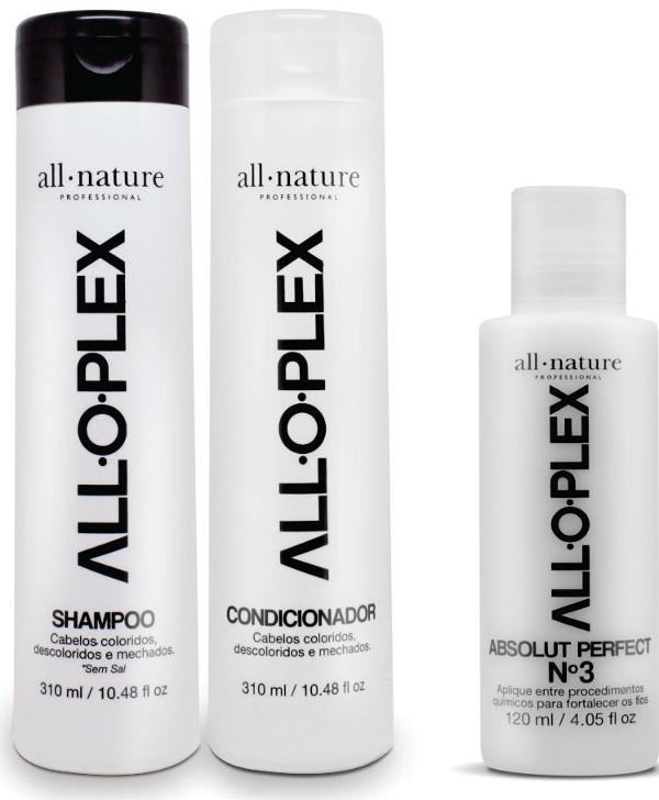 Kit Shampoo + Condicionador + Passo 3 Aloplex  Cabelos que Passaram por Procedimentos Químicos