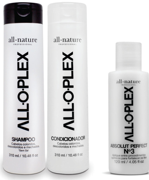 Kit Alloplex All Nature Shampoo e Condicionador + Passo 3 Aloplex  Para Cabelos Loiros, Descolorido, e tTntos