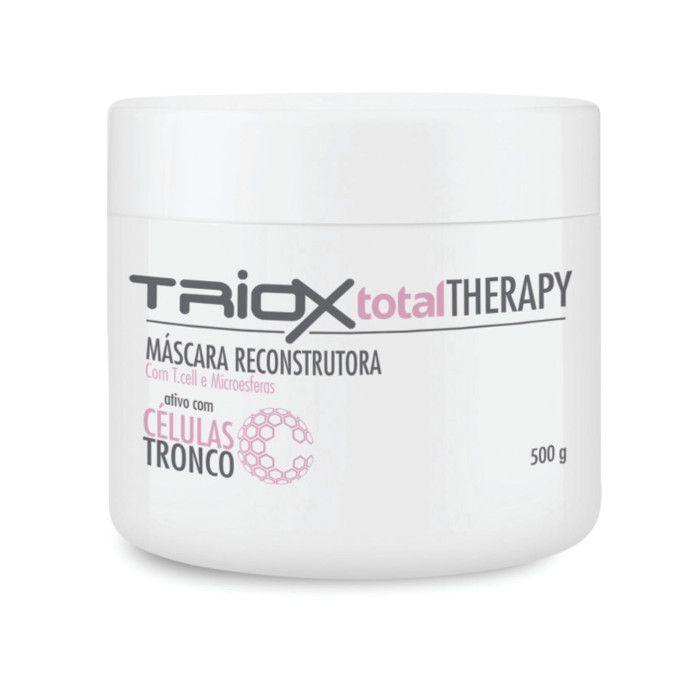 Kit Máscara Reconstrutora Capilar Com Células Tronco Triox + Shampoo e Condicionador Hidratante Argilotherapy All Nature