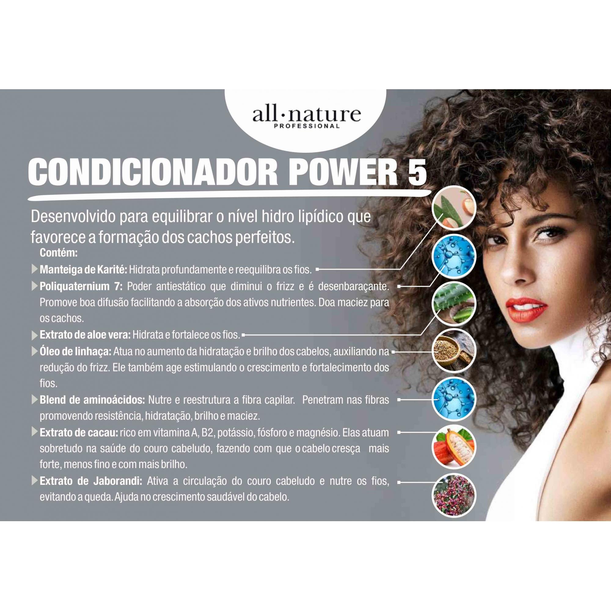 LANÇAMENTO- Condicionador Power 5 All Nature