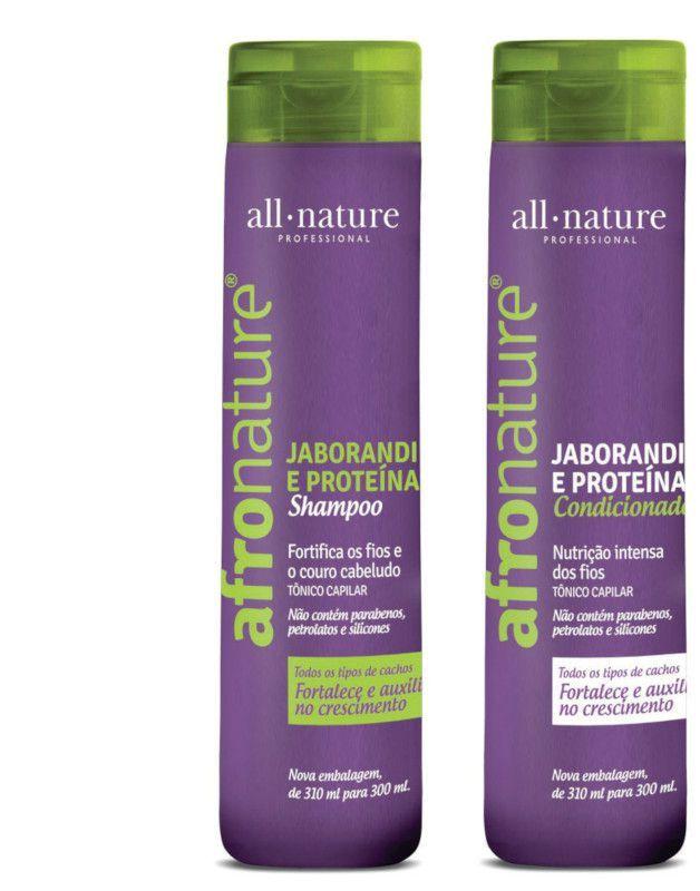 Máscara Banho de Verniz +Shampoo e Condicionador Jaborandi e Proteínas - All Nature