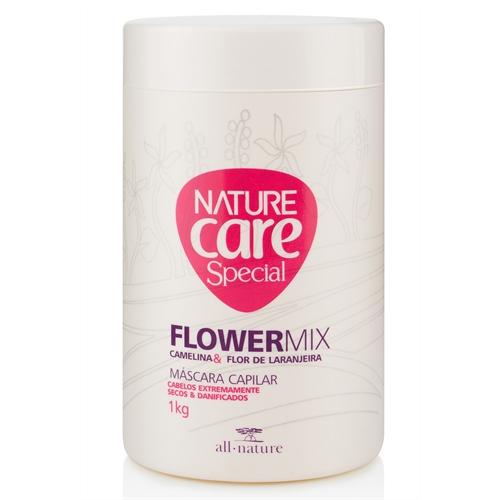 Máscara Capilar Flowermix 1 kg  Nature Care Pro  Cabelos Extremamente Danificados e Pós Quimica