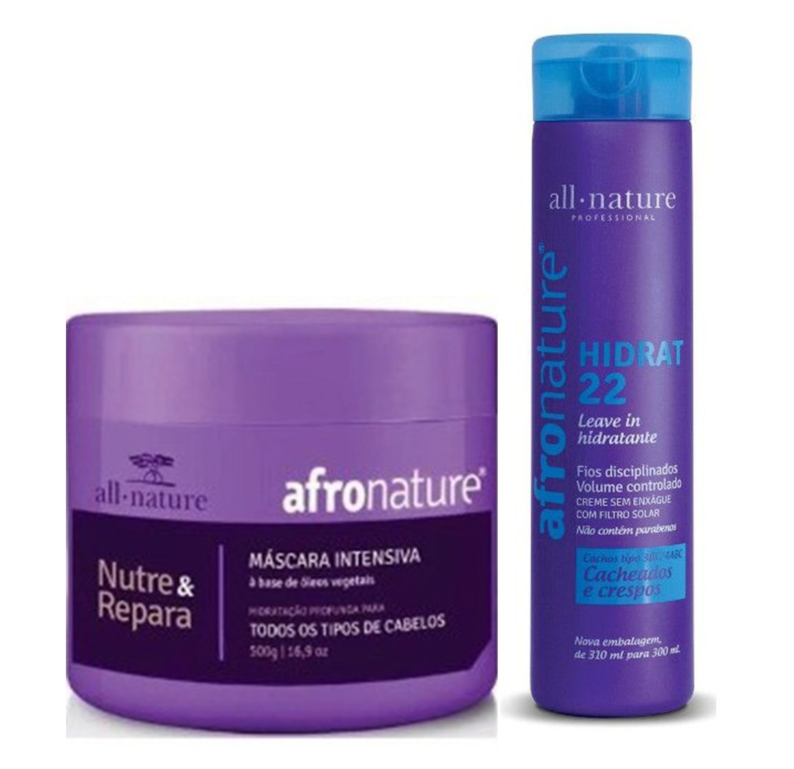 Mascara Capilar Intensiva + Hidrat 22 Leave In Creme Para Pentear All Nature