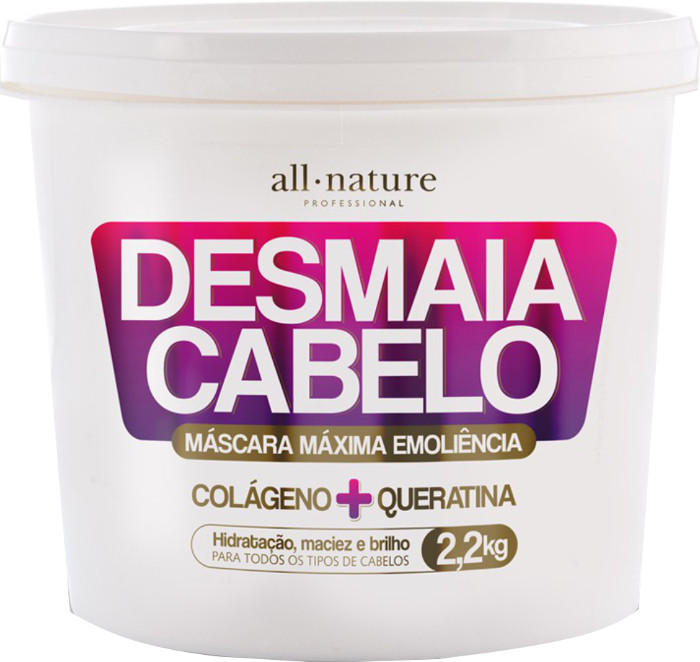 Máscara Desmaia Cabelo All Nature 2.2 Kg  Colágeno e Queratina-  All Nature
