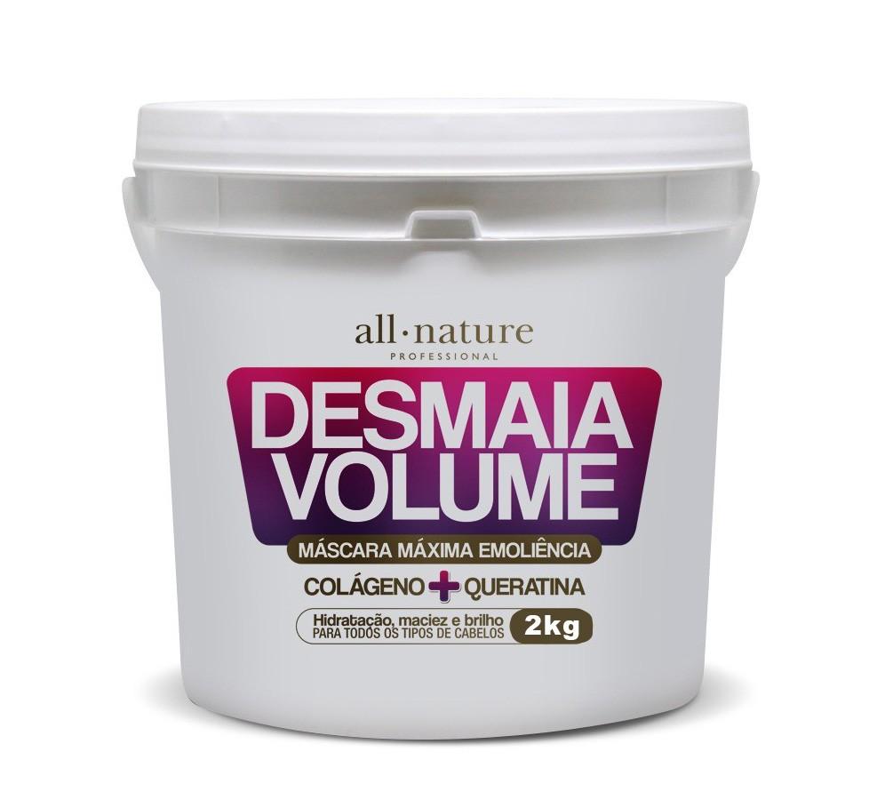 Máscaras  Desmaia Volume All Nature 2kg+ Desmaia Volume Queratina e Óleo de Coco Triox 2kg