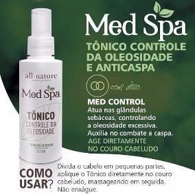 Med Spa Terapia Capilar Com Lama Vulcânica do Mediterrâneo e Aminoácidos,Tratamento dos Fios e Couro Cabeludo - All Nature