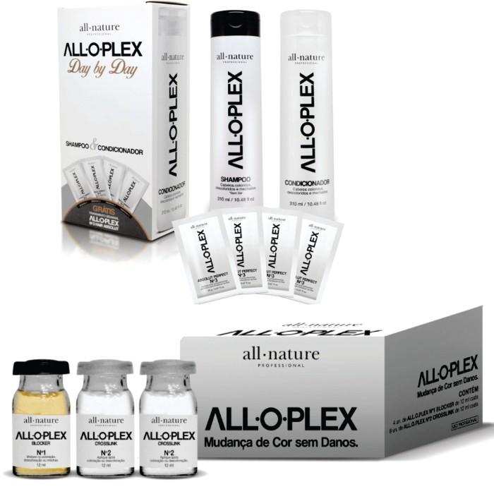 Kit Ampolas Alloplex Bloker Bloqueador de Danos nas Descolorações + kIT Manutenção Day By Day