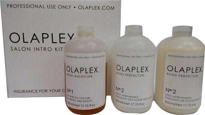 Olaplex Salon Intro, Tratamento Para Descoloração, Produto Original Fracionado,  3 Ampolas de 30ml - 1 Ampola nº 1 + 2 Ampolas nº 2