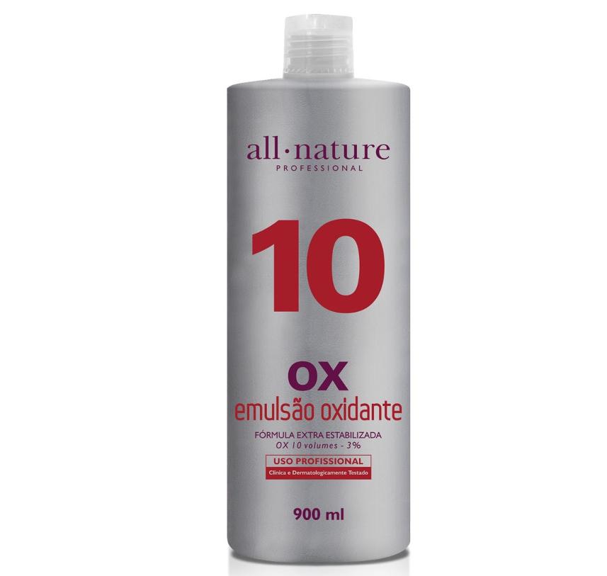 Oxidante Creme 900ml Nature Color All Nature,   Estabilizado com fórmula suave que age em conjunto com a coloração garantindo o tom desejado - (10, 20, 30 e 40 Volumes) Escolha no Ato da Comp