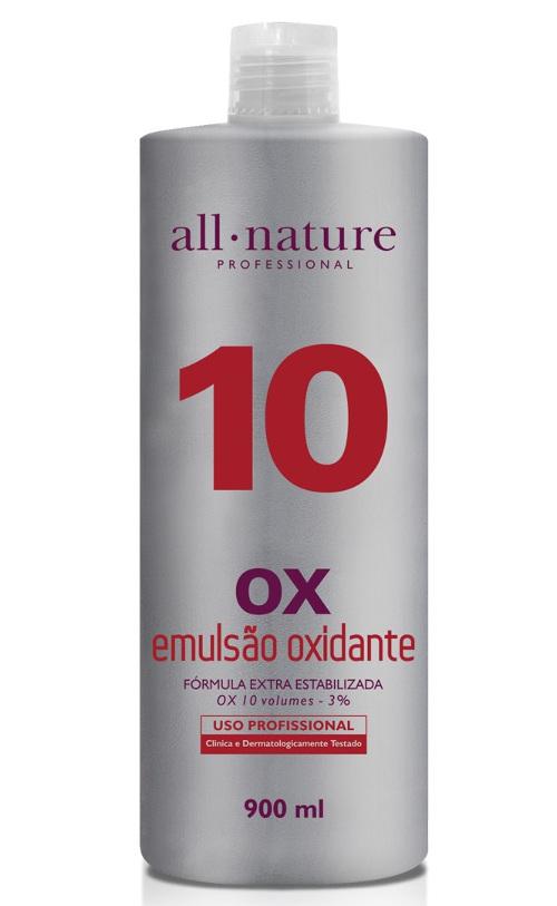Oxidante Creme 900ml Nature Color All Nature,   Estabilizado com fórmula suave que age em conjunto com a coloração garantindo o tom desejado - (10, 20, 30 e 40 Volumes) Escolha no Ato da Compra