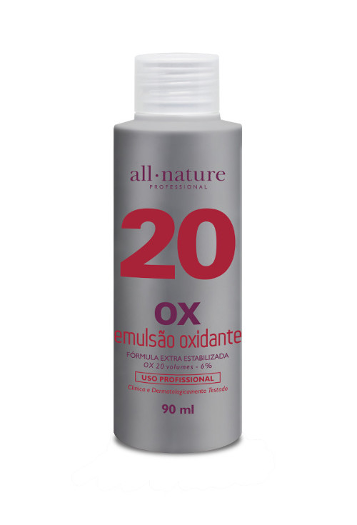 Oxidante Creme 90ml Nature Color All Nature  Estabilizado com fórmula suave que age em conjunto com a coloração garantindo o tom desejado