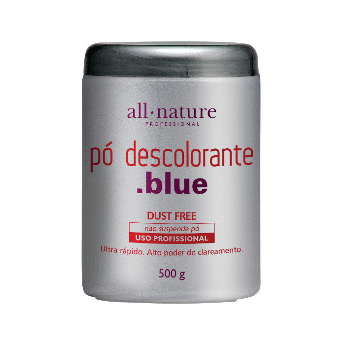 Pó Descolorante Blue 500gr Nature Color  com ação rápida segura e ativos que ajudam a cuidar dos fios